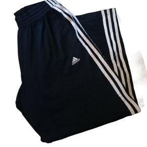 Adidas sweatpants/trackpants w/drawstring blue S